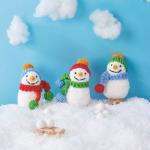 Snowman Family Free Knitting Pattern