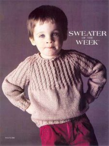 SoW Cable Yoke Raglan Free Boys Sweater Knitting Pattern