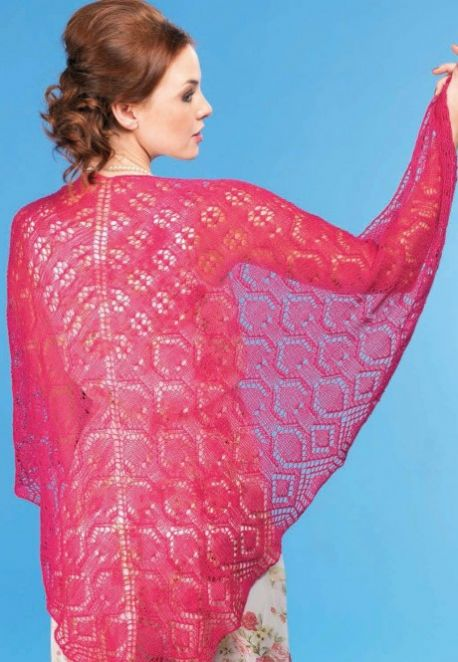 Sorbet Shawl Lace Free Knitting Pattern