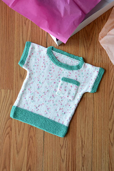 Spot the Tee Babies and Kids Top Free Knitting Pattern