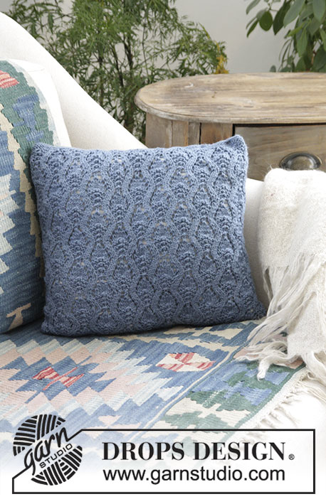 Stay Warm Lace Pillow Free Knitting Pattern