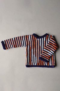 Striped Children's Sweater Free Knitting Pattern