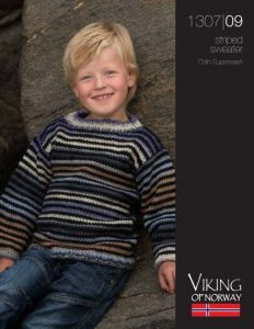 Striped Sweater Free Knitting Pattern for Boys