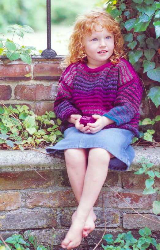 Striped Sweater for Kids Free Knitting Pattern