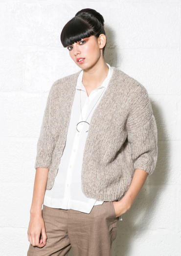 Sucre Beginner Cardigan Free Knitting Pattern