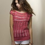 Sultry Boatneck Summer Top Free Knitting Pattern