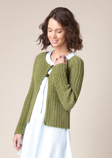 Swallowtail Scoop neck Cardigan Free Knitting Pattern