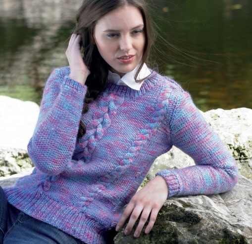 Sweater with Cables Free Knitting Pattern