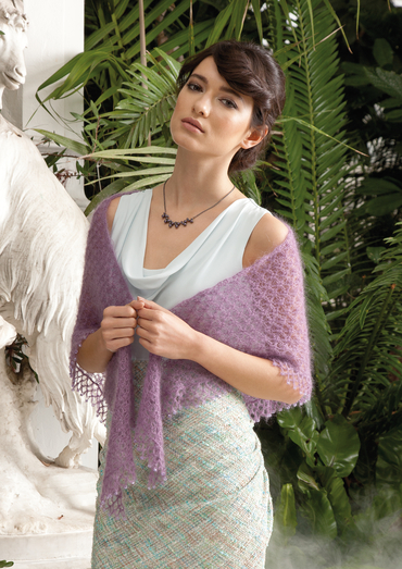Triangle Shawl Lace Free Knitting Pattern