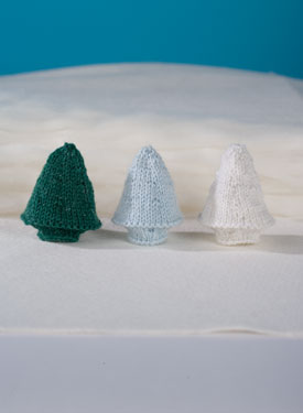 Tinsel Tree Free Christmas Knitting Pattern
