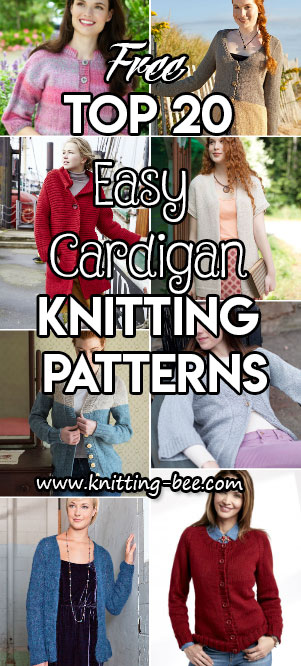 Top 20 Easy Cardigan Knitting Patterns All Free Knitting Bee