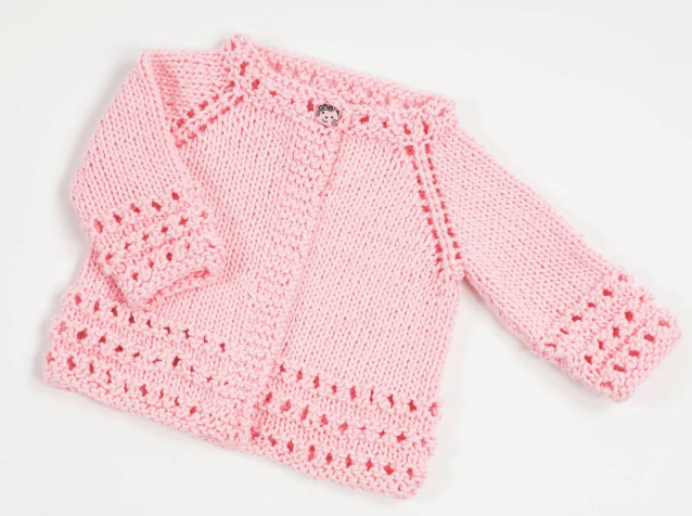 Top Down Free Baby Cardigan Knitting Pattern