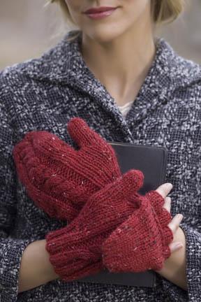 Tweedy Alpaca Scarlet Letter Mittens Free Knitting Pattern