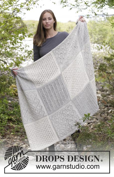 Twelve Clouds Lace Sampler Blanket Free Knitting Pattern