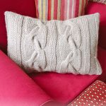 Two Cozy Cables Pillow Free Knitting Pattern