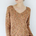 V Neck Sweater Free Knitting Pattern
