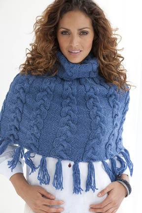 Valdosta Cabled Capelet Free Knitting Pattern