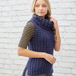 Waffle Stitch Vest Free Knitting Pattern