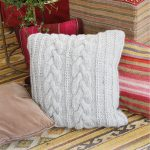 Winter Snuggle Pillow Cabled Free Knitting Pattern