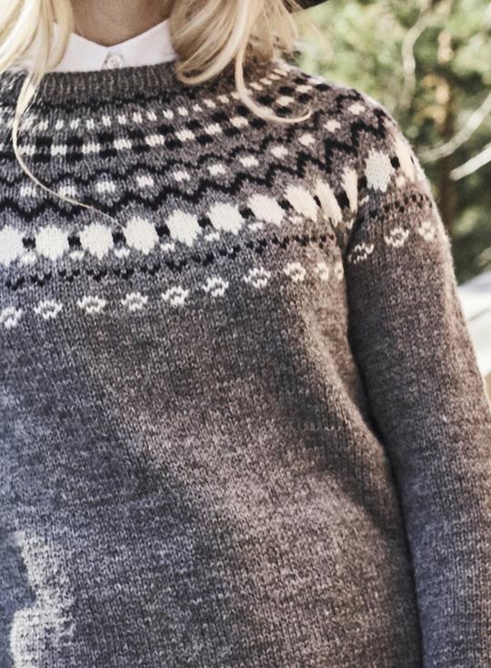 Women's Colourwork Round Yoke Sweater Free Knitting Pattern