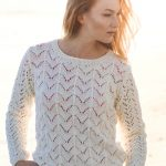Women's Lace Sweater Free Knitting Pattern