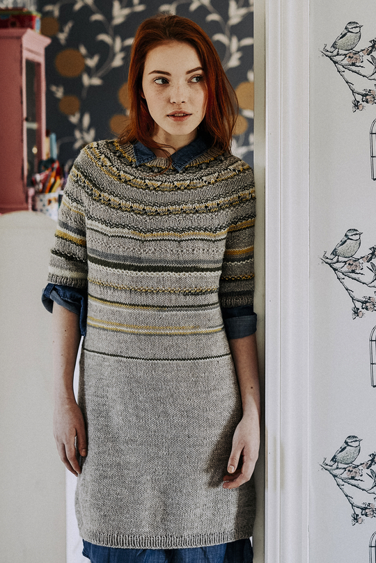 Womens Top Down Tunic Free Knitting Pattern Knitting Bee