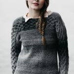 Women's Sweater with Cables Free Knitting Pattern