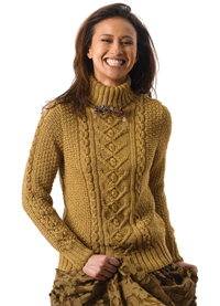 Tracy Cabled Sweater Free Knitting Pattern for Women