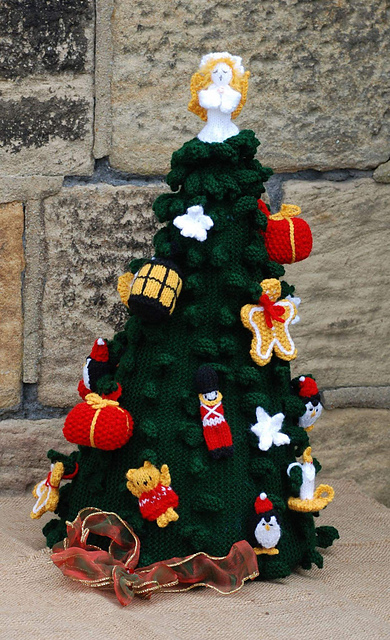 Advent Christmas Tree Free Knitting Pattern