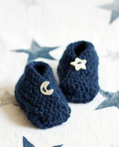 Bitty Baby Booties Free Knitting Pattern 0 to 3 months