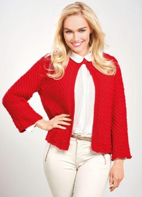 Christmas Cardigan Free Knitting Pattern