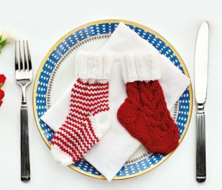 Christmas Cutlery Holders Free Knitting Pattern