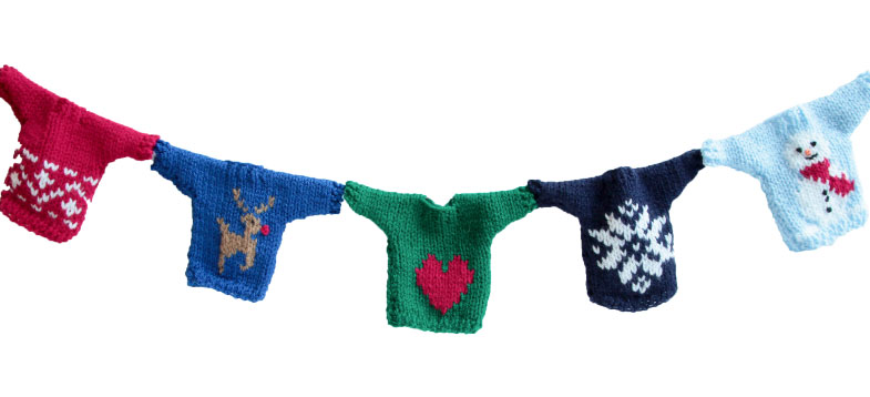 Christmas Jumper Bunting Free Knitting Pattern