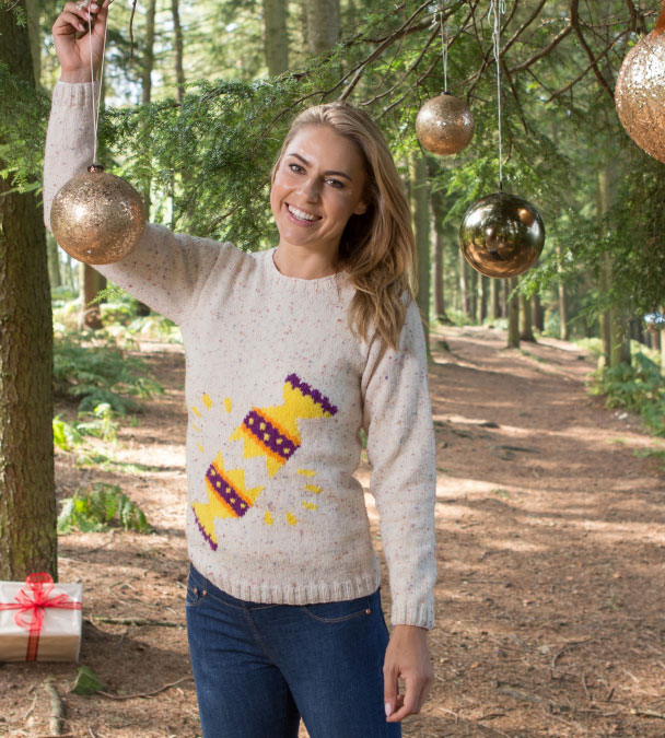 Cracker Jumper Free Christmas Knitting Pattern