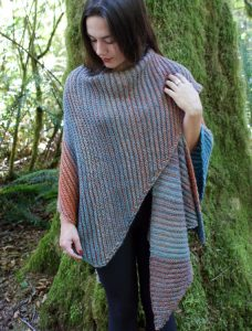 Diagonal Double Garter Square Wrap Free Knitting Pattern