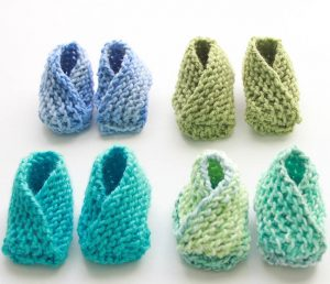 Easy Baby Booties Free Knitting Pattern