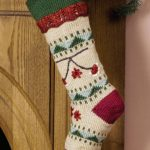 Embroidered Knitted Christmas Stocking Free Pattern