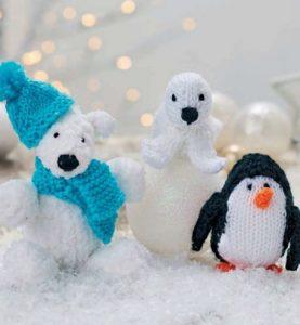 Frosty And Friends Free Knitting Pattern