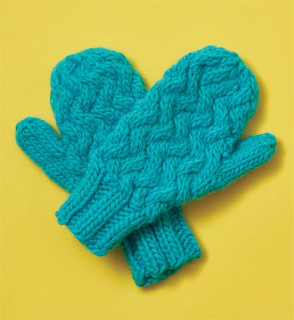 Instant Mash Free Mittens Knitting Pattern