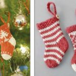 Knitted Mini Christmas Stockings Free Pattern