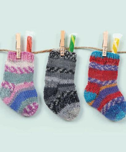 Knitted Mini Stockings Free Pattern