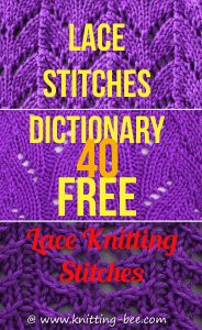 Lace Stitches Dictionary by Knitting Bee