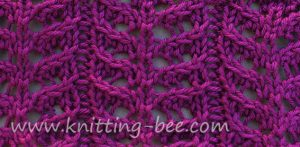 Lace Stitches Dictionary Branch Lace Knitting Stitch Pattern