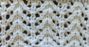 Lace Stitches Dictionary Chevron Rib Lace
