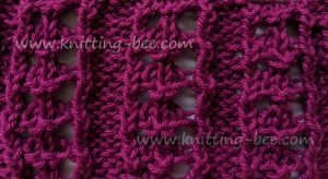 Lace Stitches Dictionary Eyelet Rib