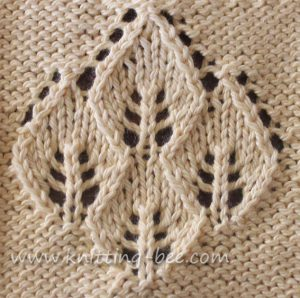 Lace Stitches Dictionary Four Leaf Panel