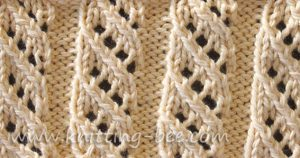 Lace Stitches Dictionary Oblique Openwork Rib Stitch