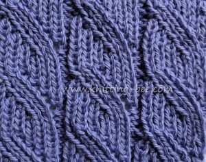 Lace Stitches Dictionary Ribbed Diagonal Lace