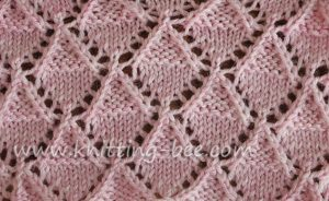 Lace Stitches Dictionary Stockinette and Garter Diamonds