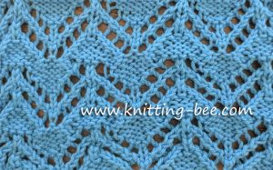 Lace Stitches Dictionary Zig Zag Eyelet